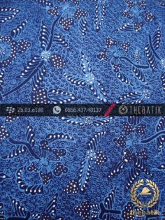 Kain Batik Tulis Jogja Motif Bantulan Gringsing Biru