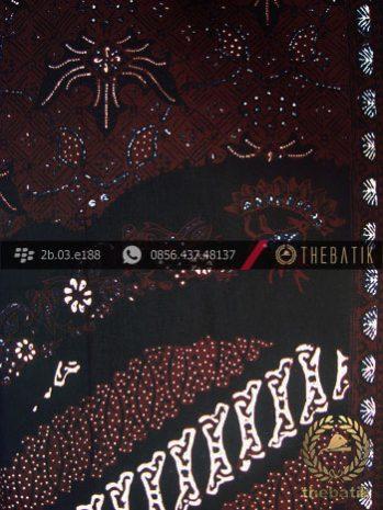 Kain Batik Cap Tulis Jogja Motif Pulau Parang Sogan