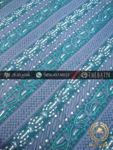 Batik Cap Tulis Motif Lereng Hijau Tosca