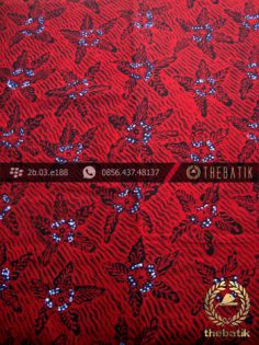 Batik Tulis Jogja Motif Bantulan Galaran Merah