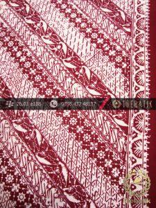 Kain Batik Cap Kelengan Motif Lereng Marun