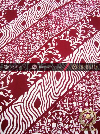 Kain Batik Cap Kelengan Motif Soco Seling Marun