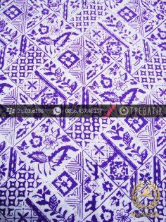 Kain Batik Cap Kelengan Motif Tambal Baru Ungu