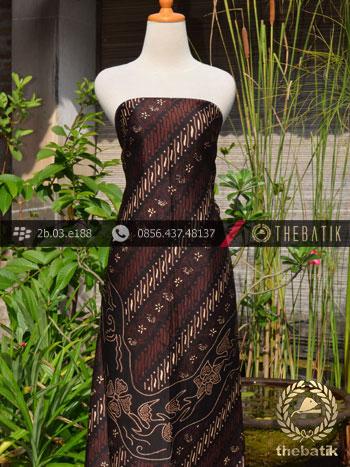 Batik Sutera Jogja Motif Parang Lukis Kombinasi