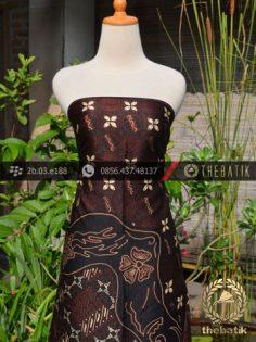 Batik Sutera Jogja Motif Pulau Lukis Kombinasi