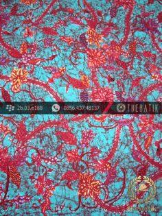 Batik Tulis Cirebon Motif Remukan Tosca