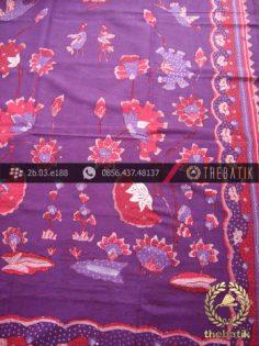 Batik Tulis Cirebon Motif Buketan Ungu Pink