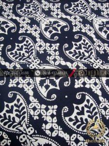 Kain Batik Cap Kelengan Motif Lereng Wirasat Putih
