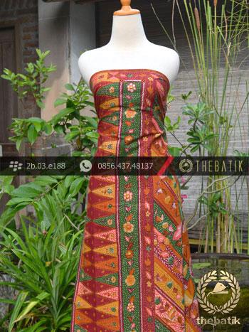 Batik Tulis Cirebon Motif Tumpal Buketan-1