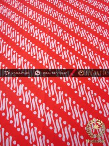 Kain Batik Cap Motif Parang Klithik Merah