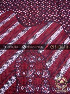 Kain Batik Cap Tulis Jogja Motif Pulau Kombinasi Merah-2