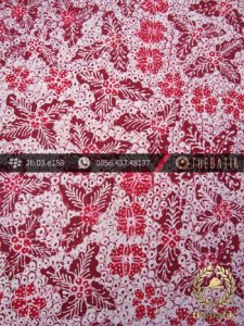 Batik Tulis Jogja Motif Bantulan Gringsing Merah