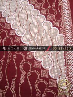 Batik Cap Tulis Jogja Motif Parang Barong Marun