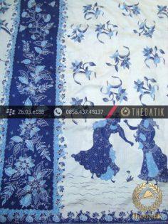Sarung Selendang Batik Sutera Tulis Motif Batik Belanda
