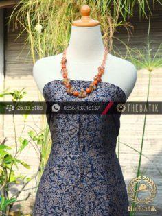 Bahan Batik Sutera Motif Lawasan Biru