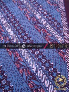 Batik Cap Tulis Jogja Motif Lereng Kelir Biru