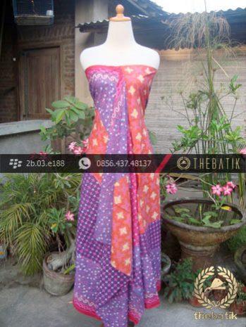 Batik Cap Tulis Motif Pulau Warna Kontemporer