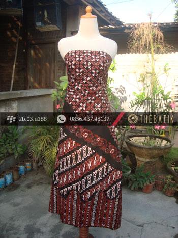 Batik Cap Tulis Jogja Motif Pulau Coklat Kombinasi