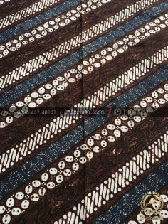 Kain Batik Klasik Jogja Motif Parang Seling Kawung