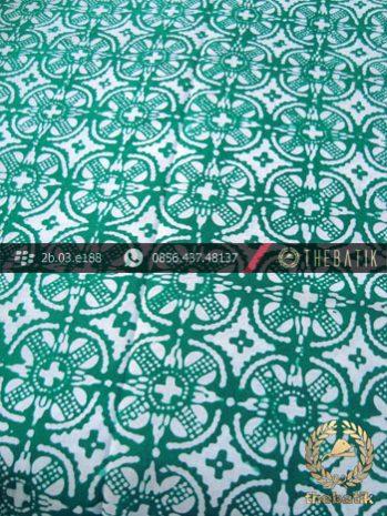 Batik Cap Motif Nithik Cakar Hijau Kelengan