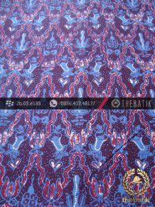 Batik Cap Tulis Jogja Motif Krantil Biru