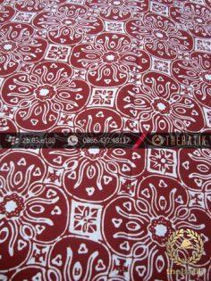 Batik Cap Motif Ceplok Kelir Coklat Kelengan