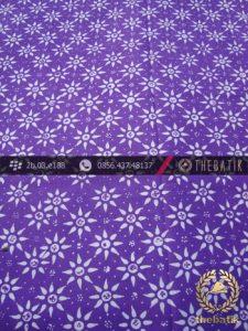 Batik Cap Motif Kembang Tanjung Ungu Kelengan