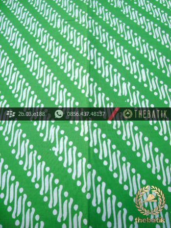Batik Cap Motif Parang Klithik Hijau Kelengan