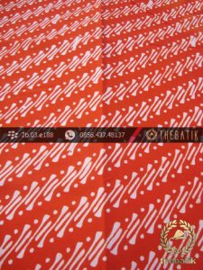 Batik Cap Motif Parang Klithik Jingga Kelengan