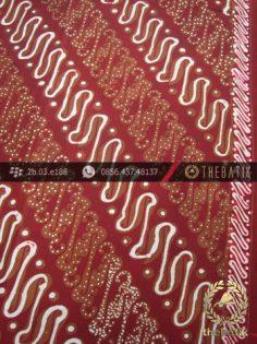 Batik Cap Tulis Jogja Motif Parang Rusak Seling Maroon