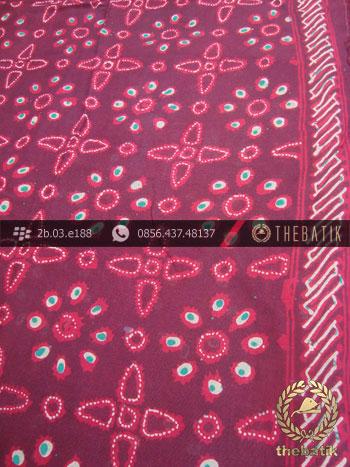 Batik Paris Cap Tulis Jogja Motif Merah Kombinasi