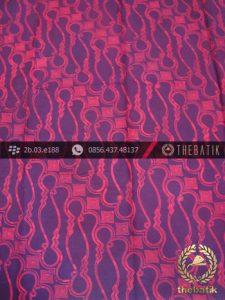 Batik Cap Jogja Motif Parang Barong Merah Seling Ungu