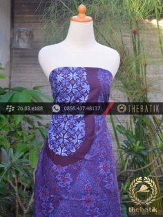 Batik Cap Tulis Jogja Motif Ceplok Pulau Biru Kombinasi