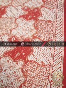 Batik Cap Jogja Motif Sekarjagad Jingga Kelengan