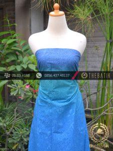 Kain Batik Emboss Motif Gradasi Biru