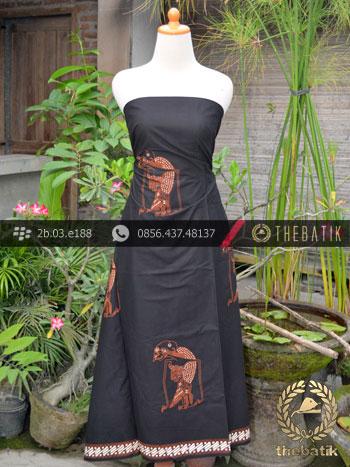 Batik Cap Tulis Jogja Motif Srikandhi Latar Hitam Klasik