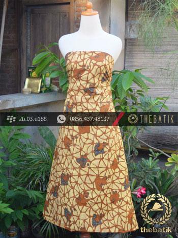 Batik Cap Tulis Solo Motif Daun Kombinasi