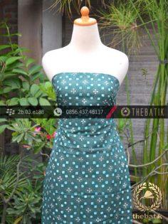 Batik Cap Tulis Jogja Motif Kawung Benggol Tosca