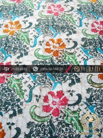 Batik Remukan Wonogiren Motif Bunga Coletan Hijau