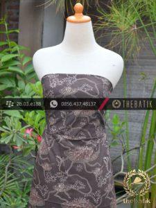 Kain Batik Warna Alam Motif Teratai