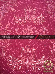 Kain Batik Tulis Jogja Motif Wahyu Tumurun Merah