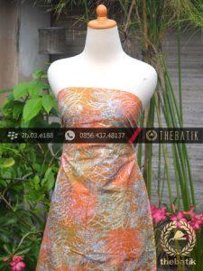 Batik Cap Motif Gradasi Kontemporer Jingga