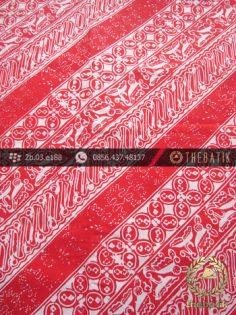 Batik Cap Jogja Motif Parang Seling Kawung Merah