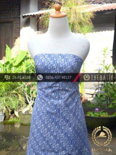 Batik Cap Jogja Motif Parang Klithik Biru Muda