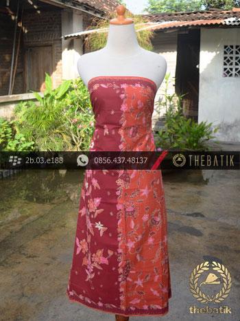 Sarung Batik Tulis Motif Pesisir Merah Jambon
