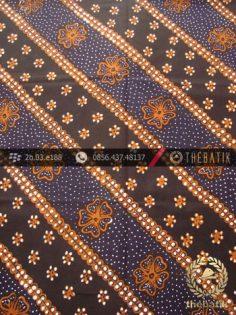 Batik Tulis Jogja Motif Lereng Kembang Latar Hitam