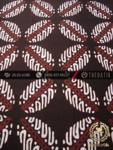 Batik Cap Tulis Jogja Motif Bligon Latar Hitam