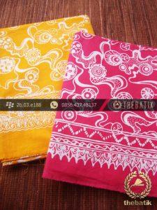 Harga Kain Batik Murah / Paket Kain Batik Kuning Pink