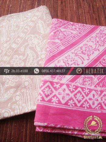 Harga Kain Batik Murah / Paket Kain Batik Krem Pink