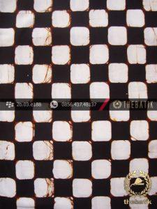 Kain Batik Cap Motif Poleng Kotak-Kotak